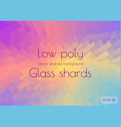 abstract polygonal background scattering shards of vector image