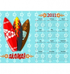 Aloha calendar vector