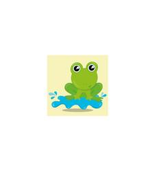 April showers frog 14 vector