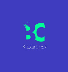 Bc letter logo design with negative space concept vector