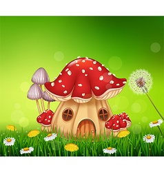 Beautiful home mushroom house vector