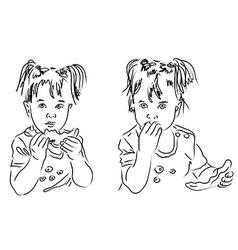 Calligraphic child vector