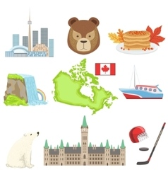 Canadian National Symbols Set vector