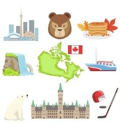 Canadian National Symbols Set vector