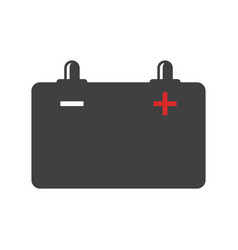 car battery icon on white vector image
