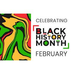 Celebrating black history month february banner vector