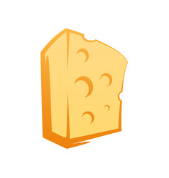 cheese icon in cartoon style on white background vector image