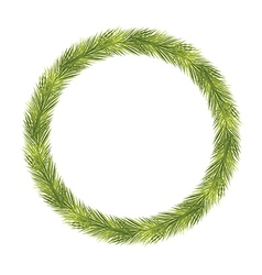 Christmas Fir Tree Wreath vector image vector image