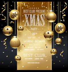 Christmas party design golden vector