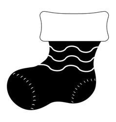 christmas sock silhouette vector image