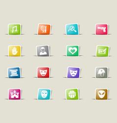 cinema genre icon set vector image
