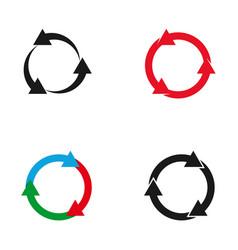 Circle arrow logo set vector