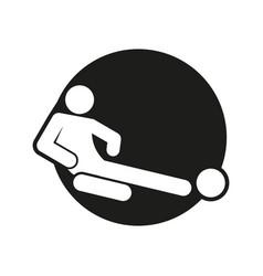Circle block sliding tackle football soccer sport vector