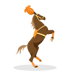 circus trained horse in stage decoration vector image