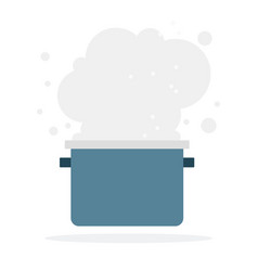 cloud smoke from pan flat isolated vector image