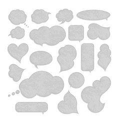 collection blank empty speech bubbles vector image