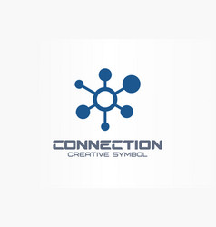 Connect creative symbol concept social media vector