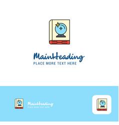 creative halloween book logo design flat color vector image