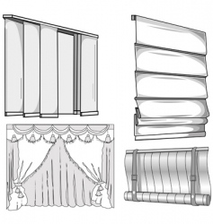 curtains jalousie vector image