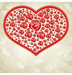 Design with red heart vector image