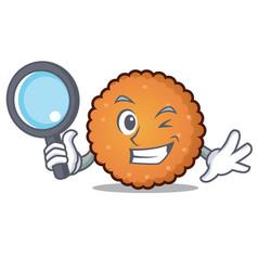 detective cookies character cartoon style vector image
