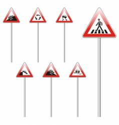 European road signs vector image