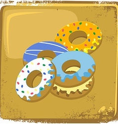 Food and drink theme donut vector