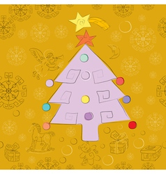 golden christmas card vector image