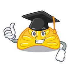 Graduation orange jelly candy character cartoon vector