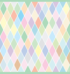 harlequin pale diamond pattern vector image