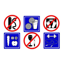 Healthy lifestyle icons objects vector