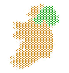 honeycomb ireland countries map vector image