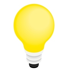 Light bulb icon isometric 3d style vector image