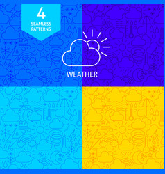line weather patterns vector image