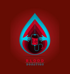 logotype blood donation vector image