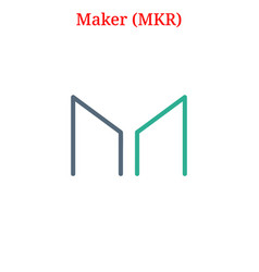 Maker mkr logo vector