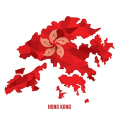 Map of Hong Kong vector image