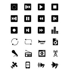 Media and Advertisement Icons 2 vector