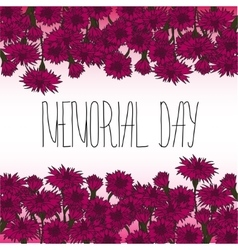 Memorial day card with hand lettering vector image