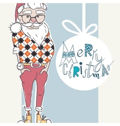 Merry Christmas Background With Santa vector