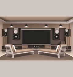 Modern home theater interior vector