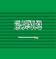 national flag saudi arabia vector image