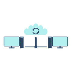 Network icon flat vector