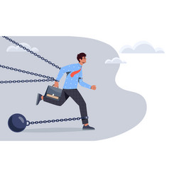 Overcoming obstacles to succeed in business vector