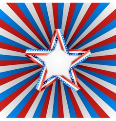 Patriotic star vector image