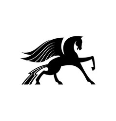 pegasus with wings isolated mythical animal vector image