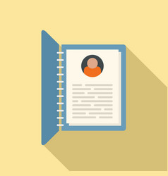 Personal information form icon flat style vector