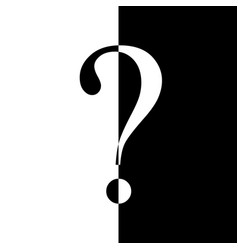 question mark in black and white vector image