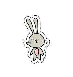 rabbit doodel icon vector image