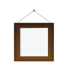 Regular square frame icon vector